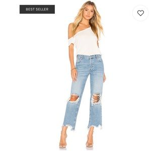 Free People Maggie Straight Jean in Light Denim